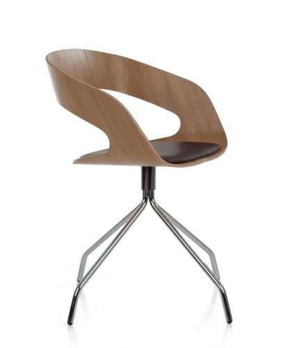 Chat swivel 09_ oak uph seat