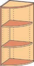 Eckregal-Aufsatz BH 40-50x92 2FB-Bogen