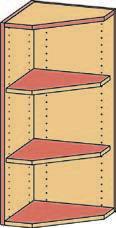 Eckregal-Aufsatz BH40-50x92 2FBschraeg