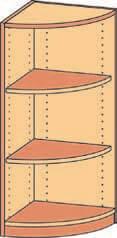 Eckregal BH 40-50x98 2FB-Bogen