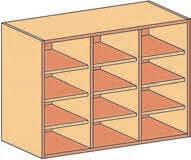 Regalaufsatz BHT104,3x80x50 3x3FB