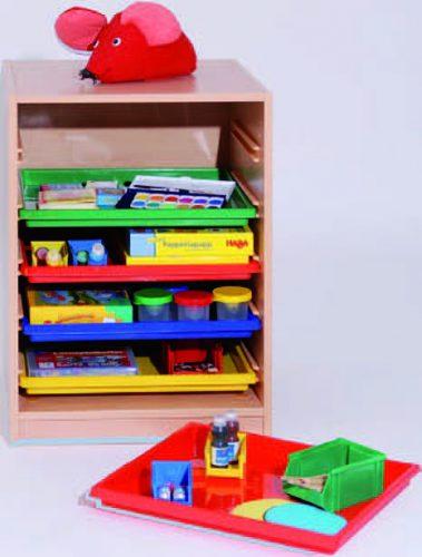 Materialcontainer mit 5 Flachschubladen