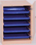 Materialcontainer mit Aufbewahrungsboxen 01