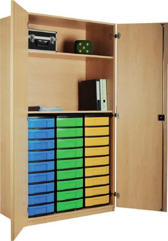 schrank mit aufbewahrungsboxen 03 bildung einrichten. Black Bedroom Furniture Sets. Home Design Ideas