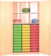 Schrank mit Aufbewahrungsboxen 06
