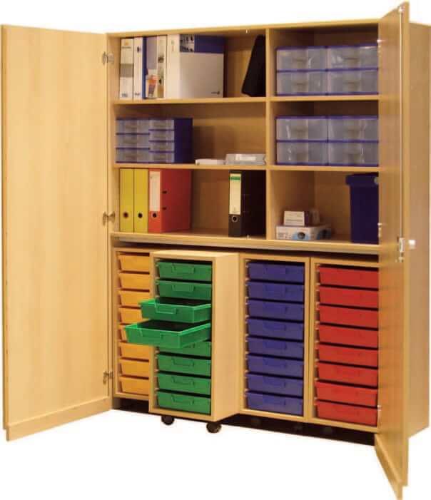 schrank mit aufbewahrungsboxen 24 bildung einrichten. Black Bedroom Furniture Sets. Home Design Ideas