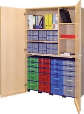 Schrank mit Aufbewahrungsboxen 33