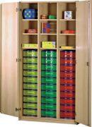 Schrank mit Aufbewahrungsboxen 40