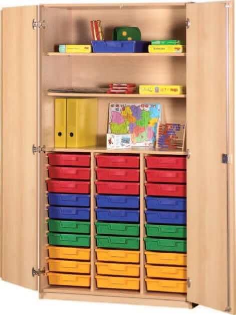 schrank mit aufbewahrungsboxen 41 bildung einrichten. Black Bedroom Furniture Sets. Home Design Ideas