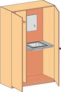 schrank mit waschbecken und garderobe bildung einrichten. Black Bedroom Furniture Sets. Home Design Ideas
