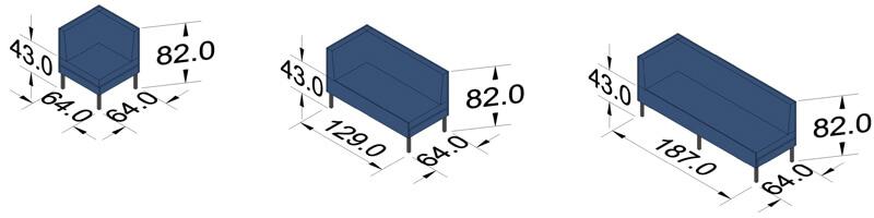 ProSedia Sofa 1 Seitenlehne Piktogramme