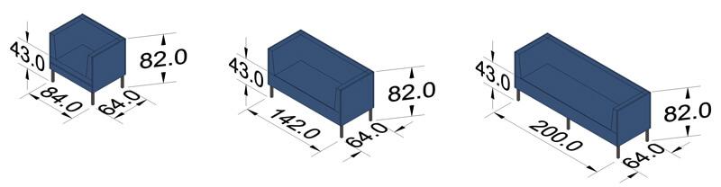 ProSedia Sofa 2 Seitenlehne Piktogramme